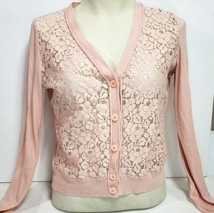 Jacob Pink Button Up Cardigan